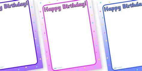 happy birthday stationery borders happy birthday  page