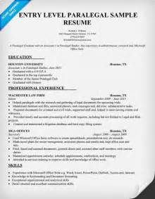 Entry Level Attorney Resume by Entry Level Paralegal Resume Sle Resumecompanion Student Resume Sles Across