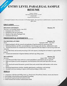 entry level paralegal resume sample resumecompanioncom With free paralegal resume templates