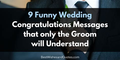 funny wedding congratulations messages   groom