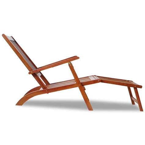 Outdoor Deck Chairs by Outdoor Deck Chair With Footrest Acacia Wood Vidaxl