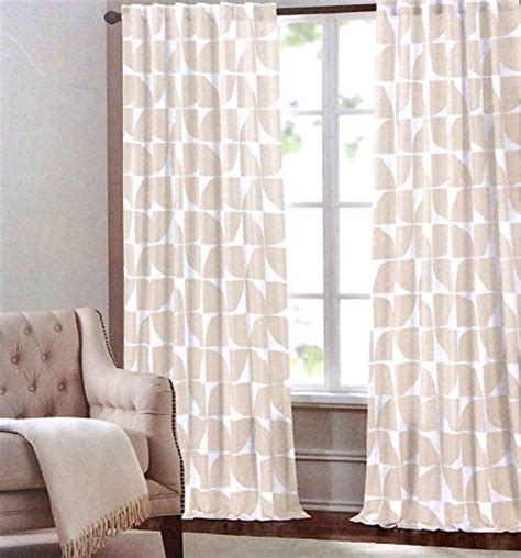 tahari home curtain panels max studio home geometric tiles window panels 52 by 96