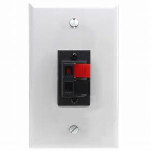 Spring Clip Wall Plate For Audio Speaker Wires with 2 ...