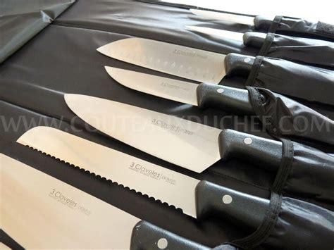 malette de couteau de cuisine malette de 9 couteaux domvs un fusil à aiguiser 3 claveles