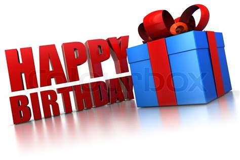 3d Happy Birthday Photo by 3d Illustration Of Happy Birthday Sign And Gift Box