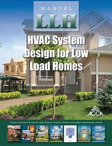 Manual Llh  U2013 2019  Hvac System Design For Low Load Homes