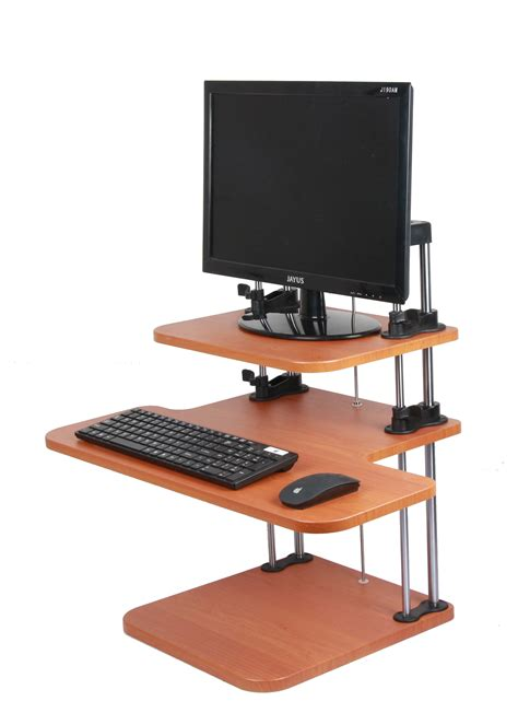sit stand laptop desk sit stand desk height adjustable table computer laptop