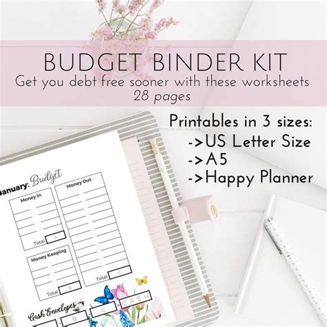 pretty budget planner kit happy planner printable budget