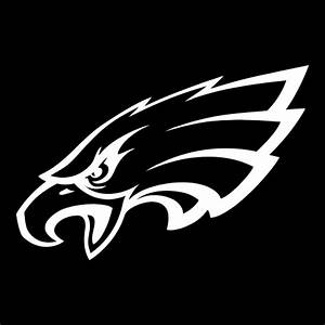 White CAD CUT Philadelphia Eagles Primary Logo 1996 ...