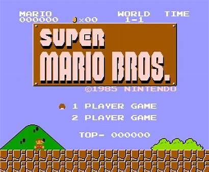 Mario Bros Screen Title Nes 1985 Games