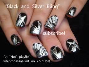 Black and silver nail art geometric divalicious
