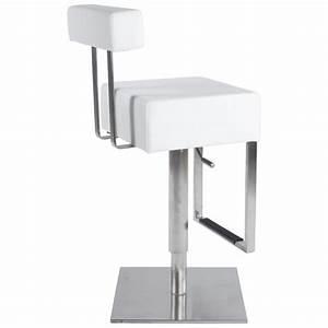 Tabouret De Bar Moderne : tabouret de bar moderne rotatif et r glable gardon blanc ~ Dailycaller-alerts.com Idées de Décoration