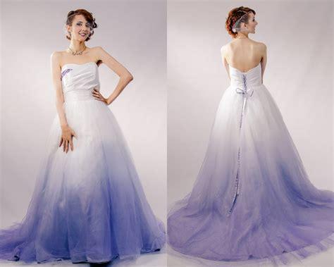 Amazing White And Purple Wedding Dresses