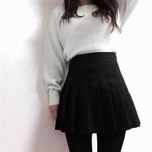 Skirt pale grunge tumblr kawaii black - Wheretoget