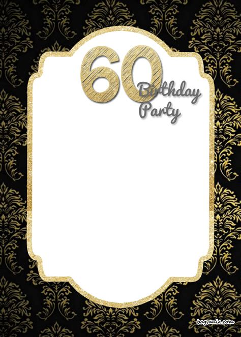 printable elegant  birthday invitation template