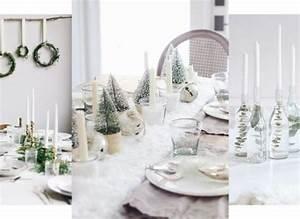Table De Noel Blanche : diy 30 id es pour une table de no l blanche comme neige ~ Carolinahurricanesstore.com Idées de Décoration