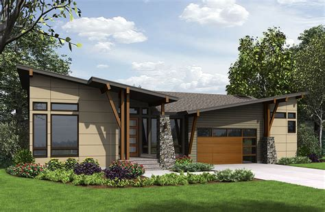 4 Bed Modern House Plan For The Sloping Lot