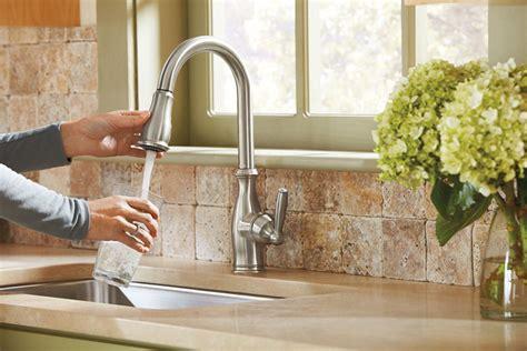 moen  brantford kitchen faucet review high arc