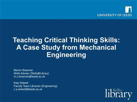 Critical Thinking For Engineers