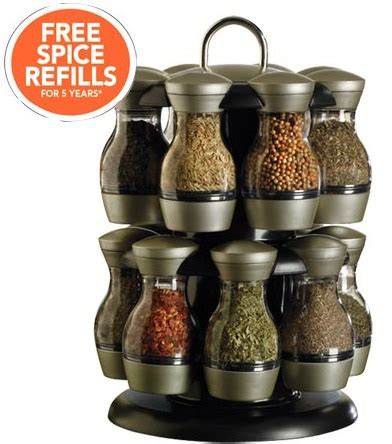 Spice Rack Refills by Kamenstein 16 Jar Spice Rack Just 25 Free Refills