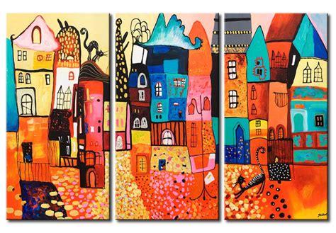 tableau de gogh la chambre impression sur toile les maisons colorées pour enfants