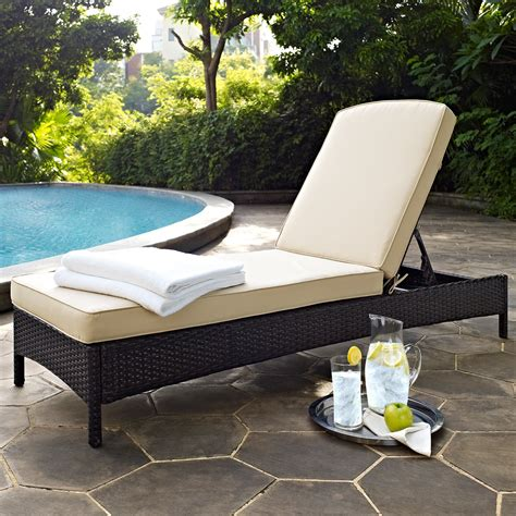 outdoor chaise lounges crosley furniture palm harbor outdoor wicker chaise lounge