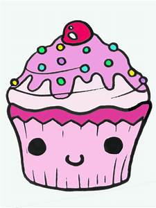 Cupcake Line Drawing - Cliparts.co