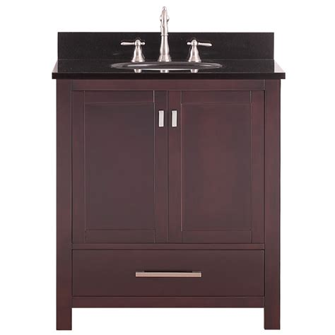 30 inch single sink bathroom vanity in espresso