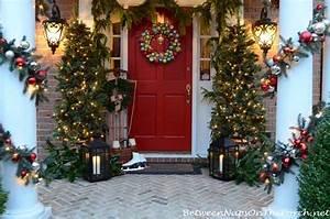 Christmas, Porch, Decorating, Ideas