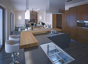 cuisine grise la cuisine tendance en 40 modeles gris With cuisine bois gris clair