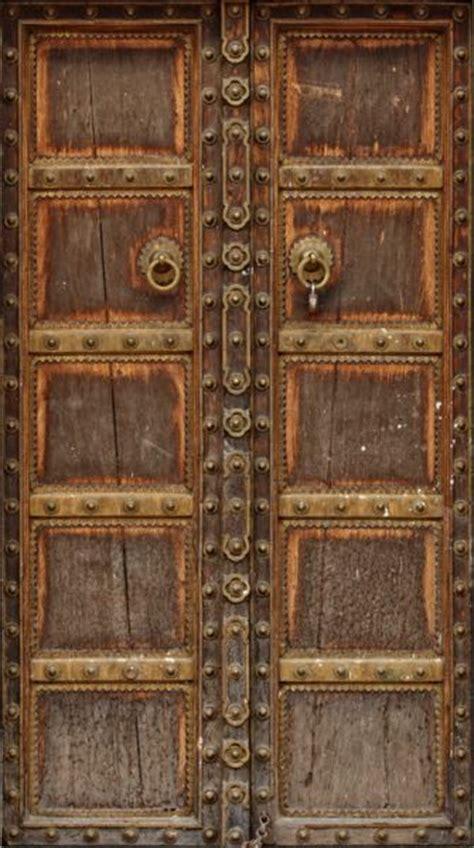ancient wood door mural wrap   flat boring door