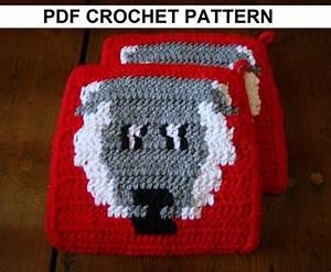 Sheep Potholder Pdf Crochet Pattern  Graph And Written