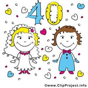 anniversaire 40 ans de mariage anniversaire de mariage 40 ans illustration images anniversaires de mariage dessin picture