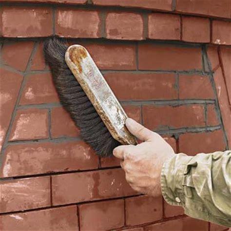 brush  wall   repair mortar   brick wall