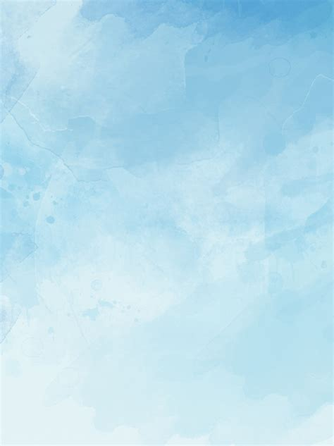 Ink Blue Blue Sky White Clouds Sky Hand Drawn Background