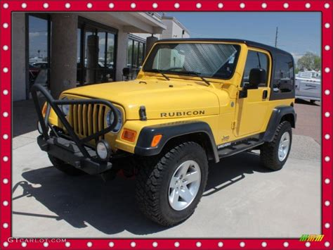 yellow jeep interior 2004 solar yellow jeep wrangler rubicon 4x4 49135793