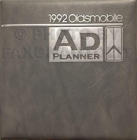 book repair manual 1992 oldsmobile silhouette electronic valve timing 1990 1992 oldsmobile silhouette parts book original