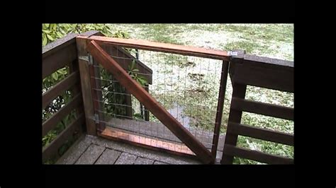 building deck gates youtube