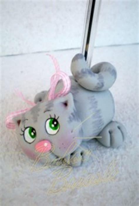 ce chat fait partie d une s 233 rie de 4 portes stylo que j ai r 233 alis 233 pour une animation de modelage
