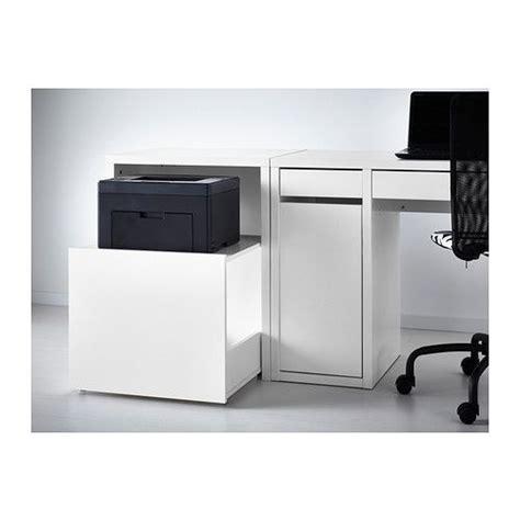desk with printer cabinet printer storage desk drawer white ikea 60 my style
