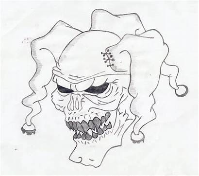 Clown Drawings Evil Drawing Gangster Face Cholo