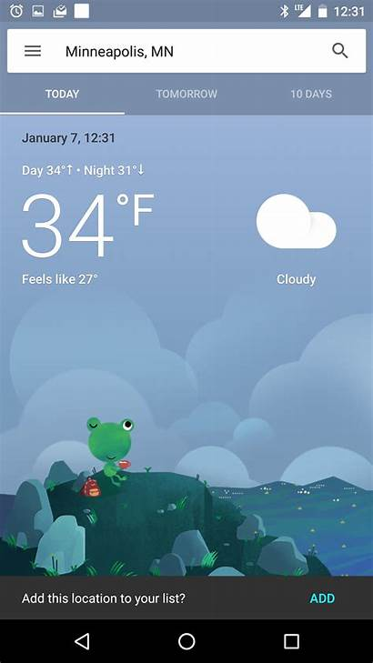 Weather Google Today Card Interface Seems Testing