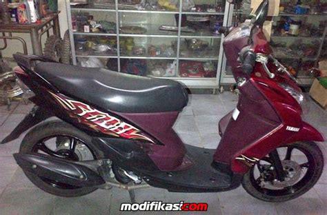Modif Motor Mio Lama Merah by Modif Mio Soul Merah Marun Modifikasi Motor Kawasaki