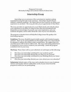 002 Internship Essay Sample Example Co How To Write An