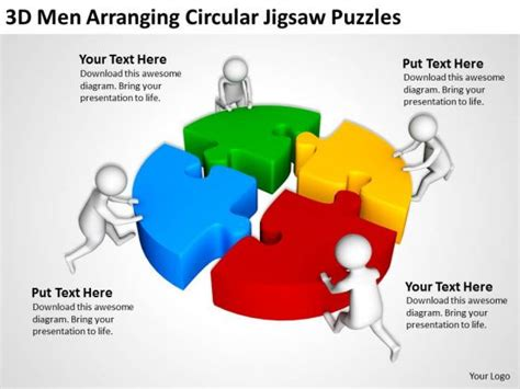 jigsaw puzzle template powerpoint business people clip art