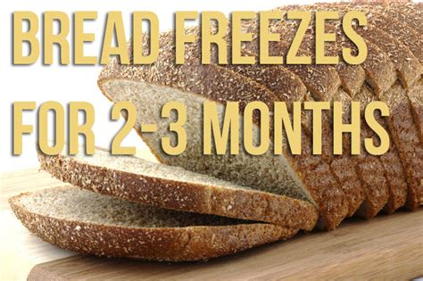freezing bread