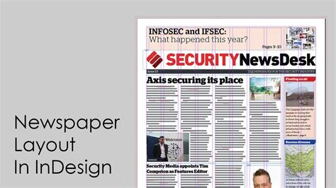 design  newspaper newspaper layout  indesign