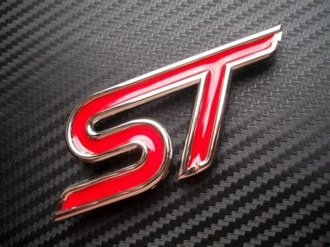 FORD ST Emblem Badge Red Small