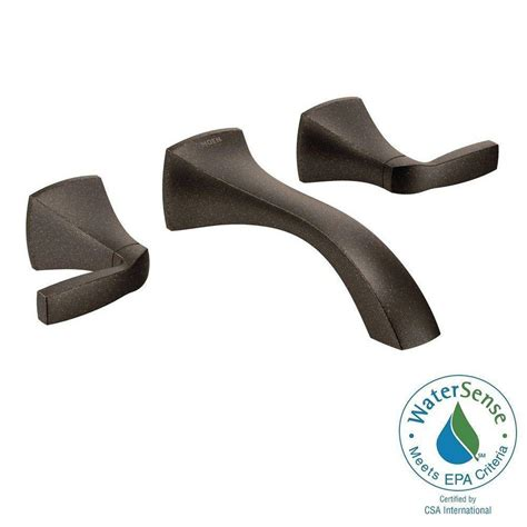 moen voss wall mount 2 handle low arc lavatory faucet trim