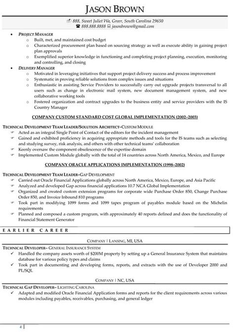 information technology resume sles